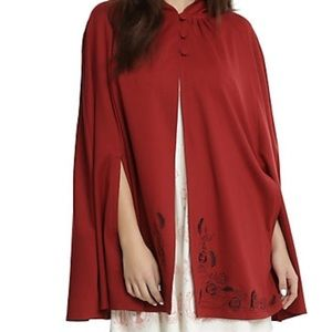 BEAUTY & THE BEAST EMBROIDERED DOUBLE LAYERED CAPE